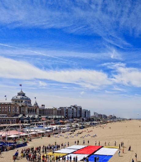 Mondriaanspektakel op het strand