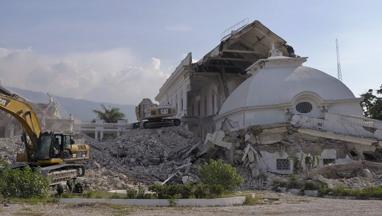 De Haïtiaanse hoofdstad Port-au-Prince tweeënhalf jaar na de verwoestende aardbeving Beeld reuters