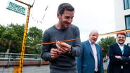Rode Duivel Jan Vertonghen trakteert patiëntjes op interactieve voetbalmuur