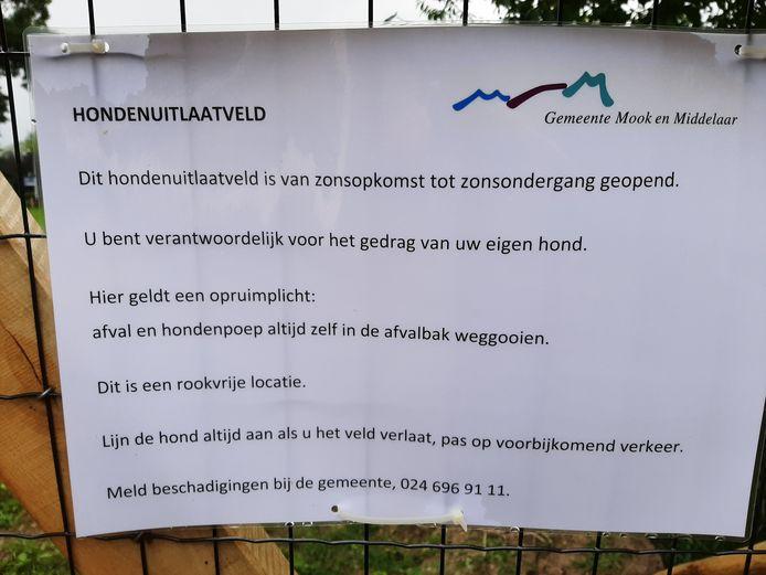 De regels in Molenhoek.