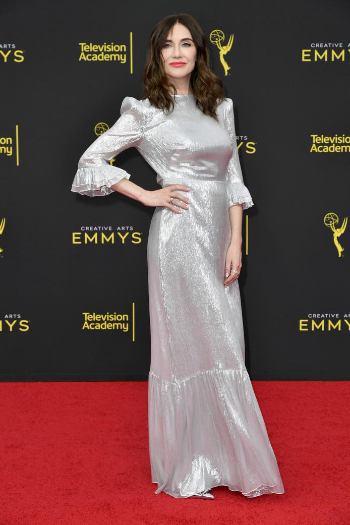 Carice van Houten bij de uitreiking gisteravond van een deel van de Emmy's .