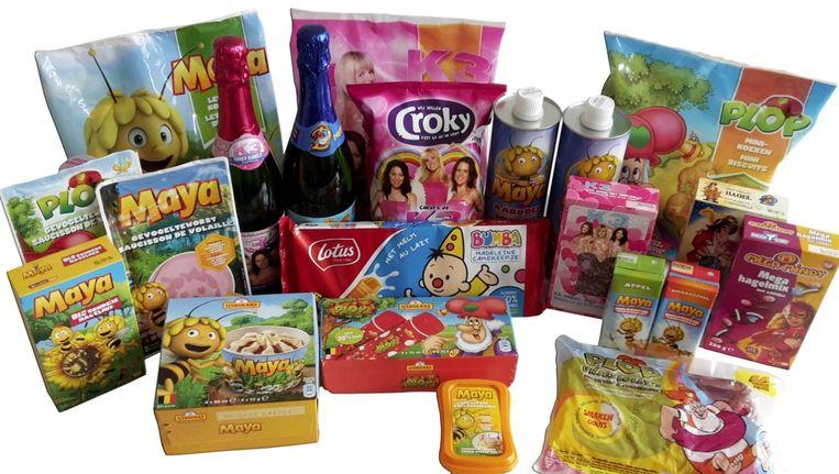 De kinderhelden van Studio 100 op verpakkingen van etenswaren. Beeld Foodwatch