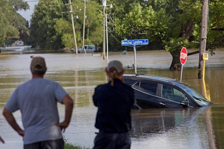 Een beeld van de overstromingen in Louisiana deze zomer.