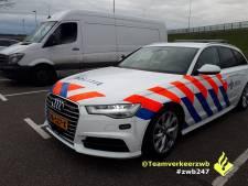 Vervoerder op A16 bij Breda heeft geen vergunning als bezorger: 4300 euro boete voor werkgever