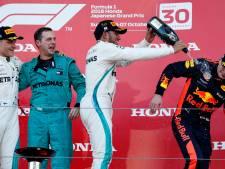 Verstappen opnieuw naar podium, Hamilton zo goed als wereldkampioen