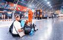 Reachel bij treinstation Bangkok.