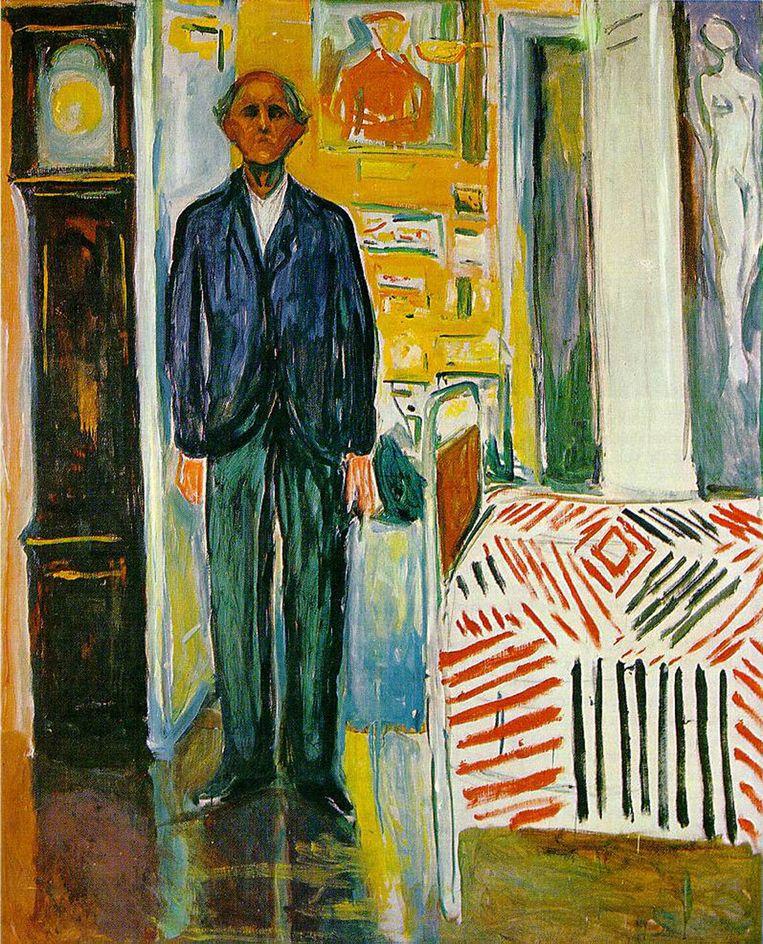 Zelfportret tussen klok en bed (1940-'42). Beeld .