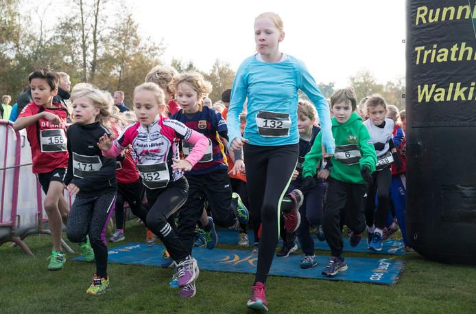 Lageveldloop crossrun in Wierden voor  kinderen.