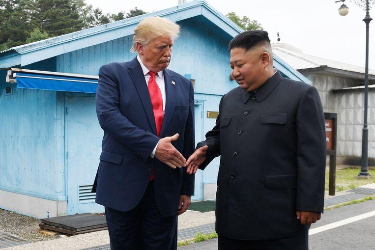 President Trump ontmoet zijn Noord-Koreaanse ambtsgenoot in juni bij de grens met Zuid-Korea.  Beeld AP