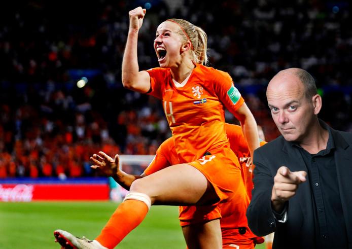 WK Dames Nederland-Zweden Halve finaleJackie Groenen ina de 1-0Foto ;  Pim Ras