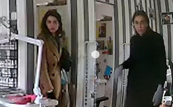 De twee inbreeksters op beeld in Wageningen.