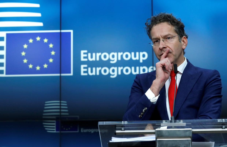 Jeroen Dijsselbloem in 2017 als voorzitter van de Eurogroep.  Beeld REUTERS