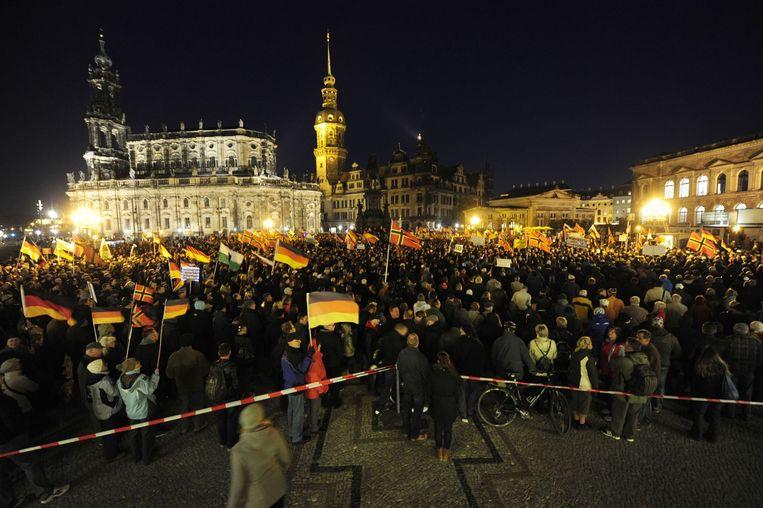Pegida-demonstratie in Dresden Beeld anp
