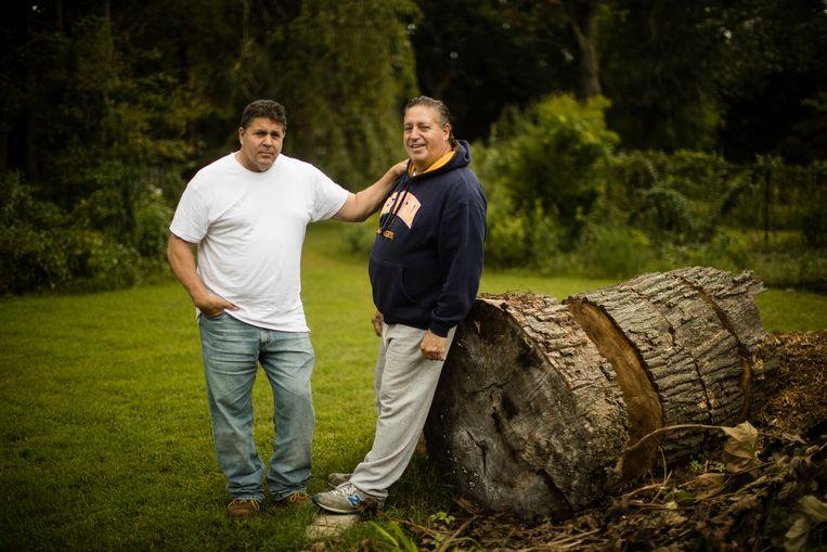 Anthony (R) met zijn broer Thomas.