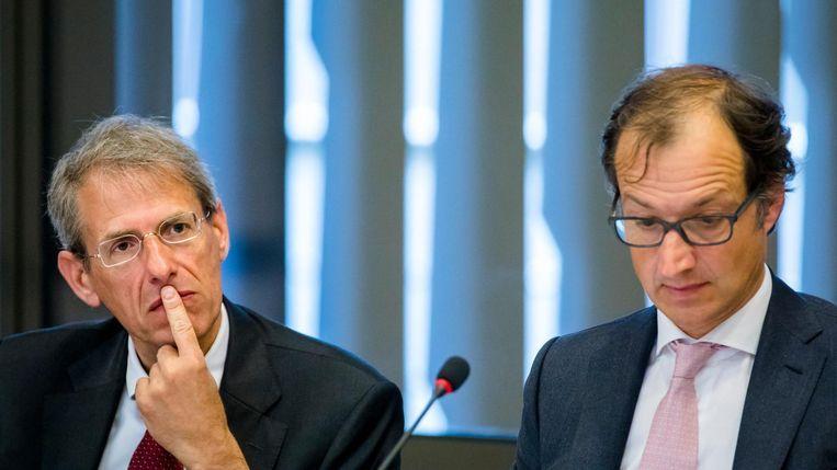Jaap Uijlenbroek, Directeur-Generaal Belastingdienst en Staatssecretaris Eric Wiebes van Financien. Beeld anp