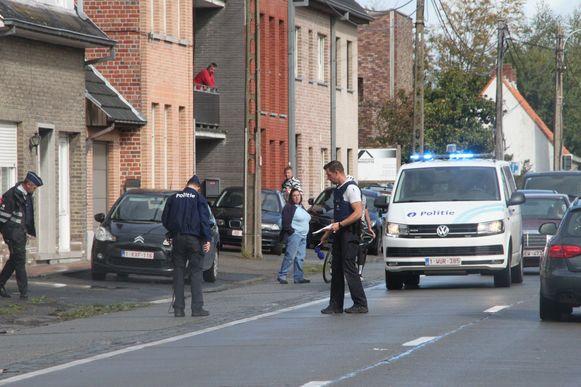 De politie van de zone Mira doet de nodige vaststellingen.