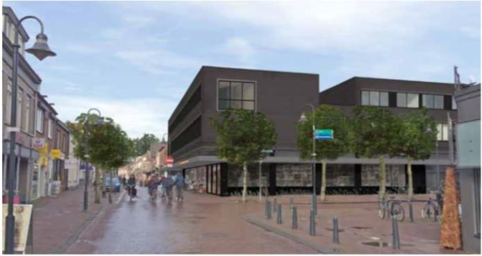 Het appartementencomplex met de suggesties voor verbetering van de Boxtelse Architecten en Stedenbouwkundigen Samenwerking.