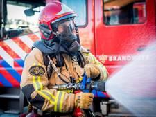 Brand in slooppand bij industriegebied Lage Weide
