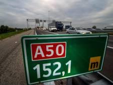 A50 tussen Zwolle en Apeldoorn weer open na afsluiting door ongeval