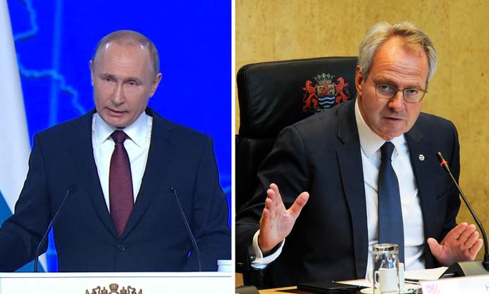 Vladimir Poetin (links) en Han Polman (rechts)