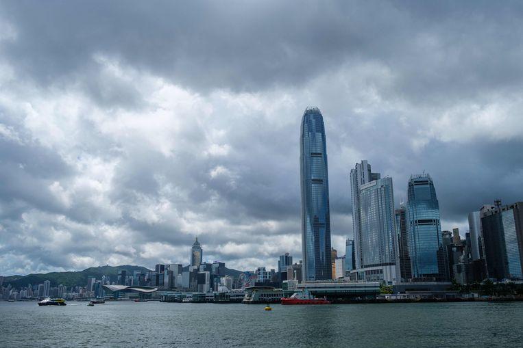 De skyline van Hongkong.  Beeld AFP