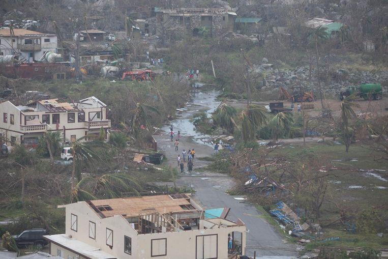 De verwoestingen aangericht door orkaan Irma op de Britse Maagdeneilanden.