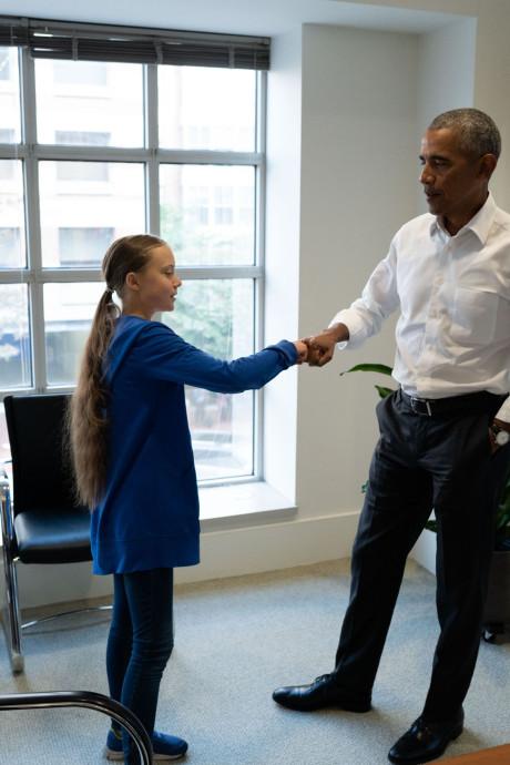 Le courant passe entre Greta Thunberg et Barack Obama