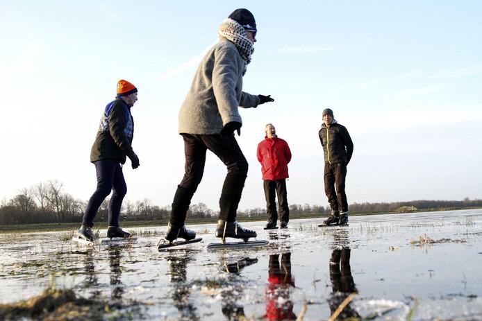 We kunnen op enkele plekken schaatsen in Oost-Nederland