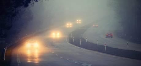 Code geel: dichte mist in midden en oosten van het land