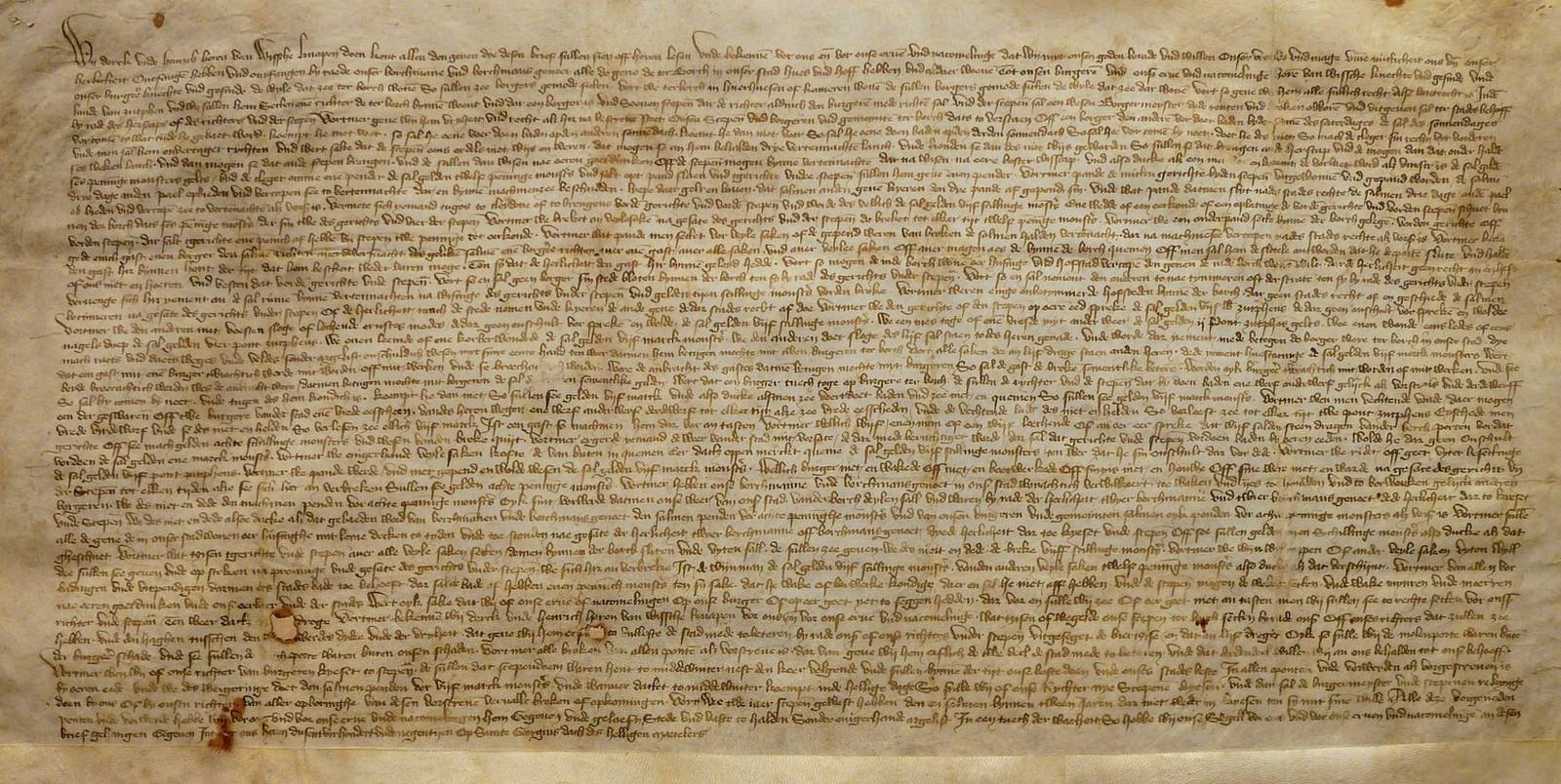 Het originele document met de stadsrechten van Terborg wordt bewaard bij het Erfgoedcentrum Achterhoek en Liemers in Doetinchem.