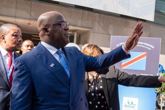 Bezoek van de Congolese president Félix Tshisekedi aan de Antwerpse diamantsector.