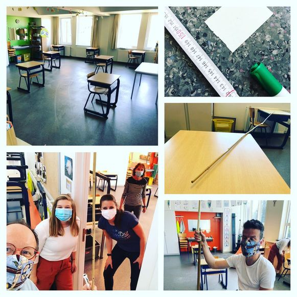 Het lerarenkorps is al weken bezig met de voorbereidingen, zowel in het secundair als in de lagere school.