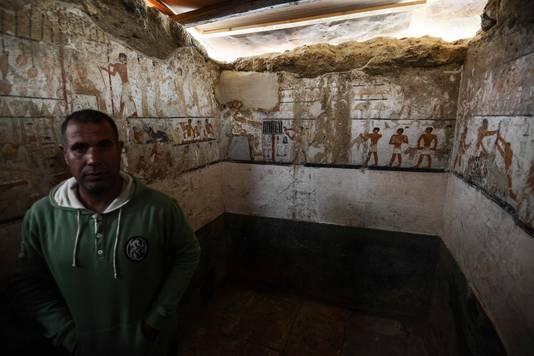 De tombe werd ontdekt tijdens werkzaamheden in het westelijke grafveld van Gezeh