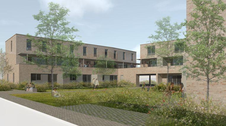 Zo zal het nieuwbouwproject op de site De Waele eruitzien.