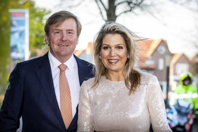 Koning Willem-Alexander en koningin Máxima bij het Koningsdagconcert in Theater Flint in Amersfoort op 15 april.