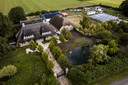 Oergoed, het landgoed van Mastenbroek in Witharen, gezien vanuit de lucht.