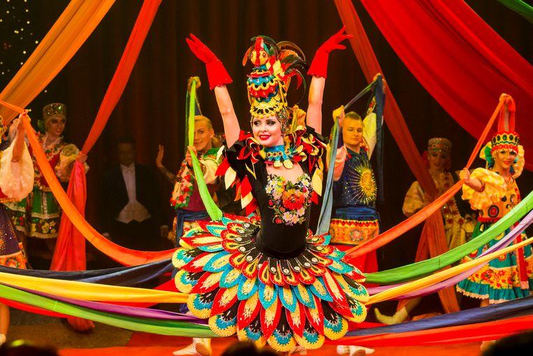 Royal Circus Moskou van Gia Eradze tijdens het Wereldkerstcircus in Carré. Beeld Maslinita