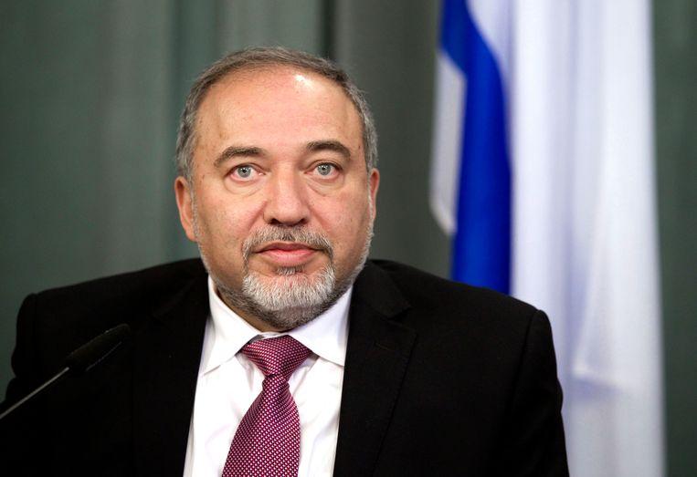 Avigdor Lieberman, die naar voren is geschoven als de nieuwe minister van Defensie. Beeld ap