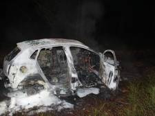 Auto uitgebrand in bosgebied Uddel