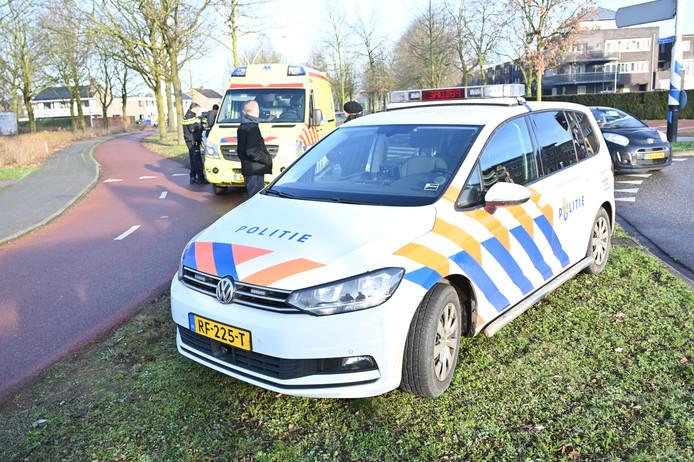 Hulpverleners spoedden zich naar het ongeluk op de Kloosterakker in Wijchen