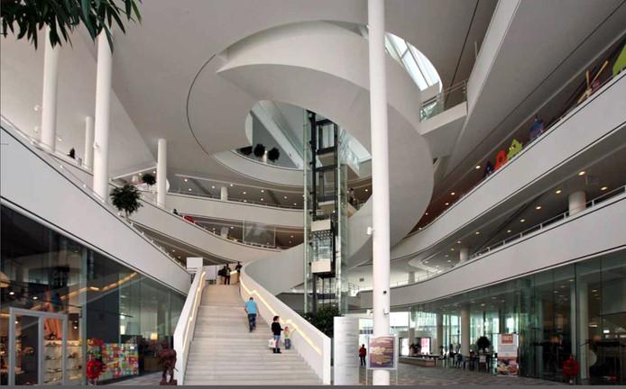 Het huidige atrium van het Stadshuis in Nieuwegein.