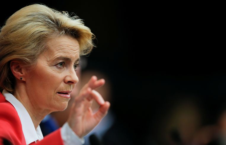 De nieuwe voorzitter van de Europese Commissie, Ursula von der Leyen. Beeld Reuters