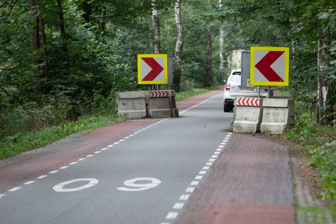 De tijdelijke snelheidsremmende maatregelen op de Wildenborchseweg tussen Vorden en Lochem worden binnenkort vervangen door permanente chicanes.