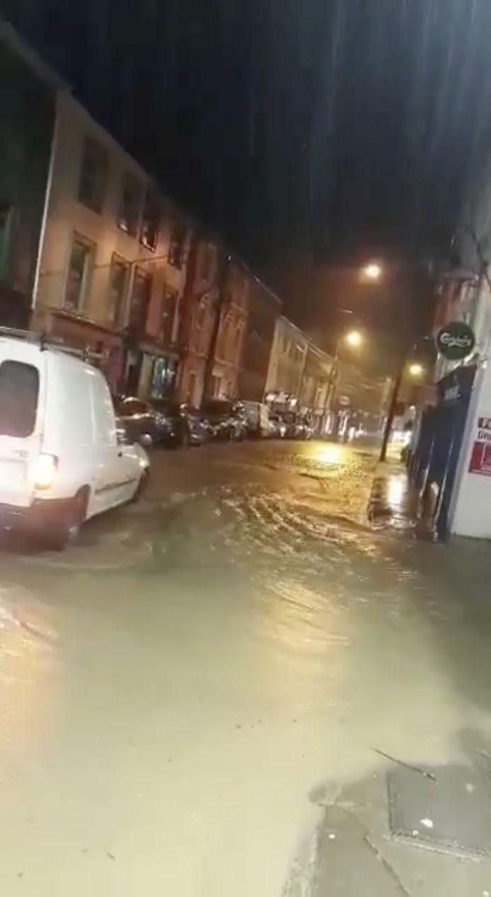 Wateroverlast in de stad Skibbereen, in het zuiden van Ierland.