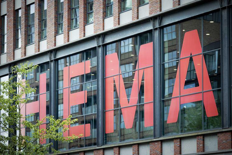 Het hoofdkantoor van Hema in Amsterdam. De winkelketen heeft een akkoord bereikt met schuldeisers. Beeld ANP