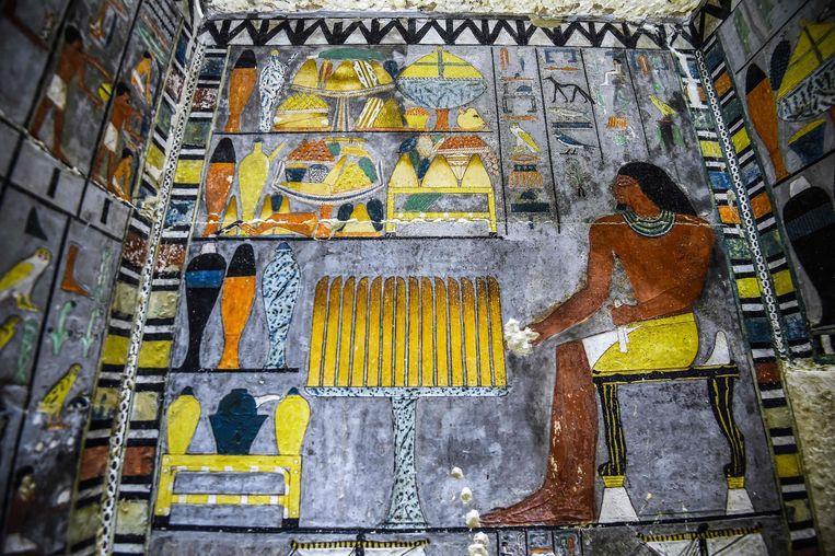 De pas ontdekte graftombe van de vroegere Egyptische edelman Khuwy.
