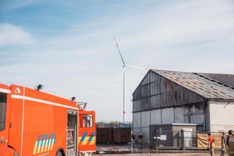 Brand op de industriezone Ravenshout in Tessenderlo.
