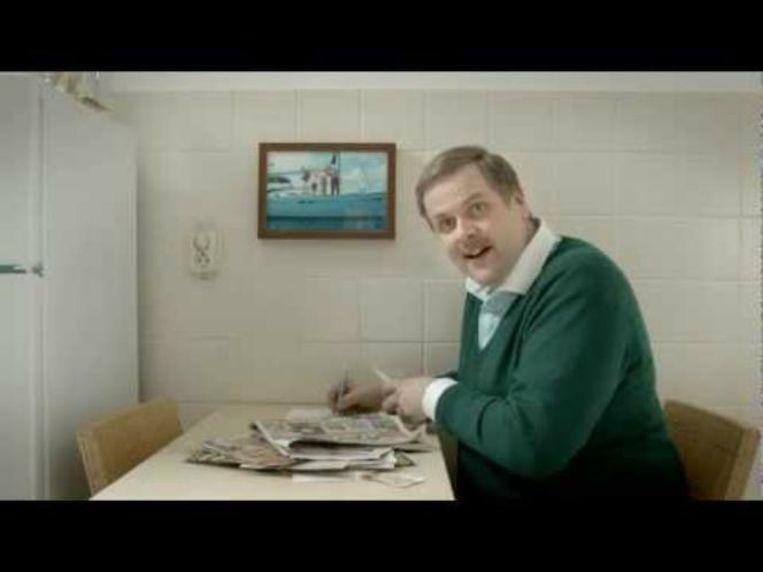 Patrick Stoof in een reclame voor Telfort. Beeld