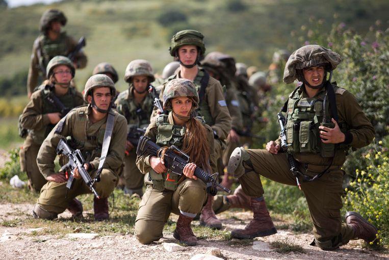 Het leger van Israël tijdens een oefening.