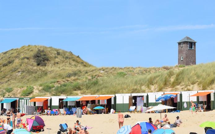 Strandhuisjes bij Zoutelande.